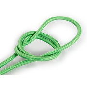 Kynda Light Fabric Cord Light Green - round, solid