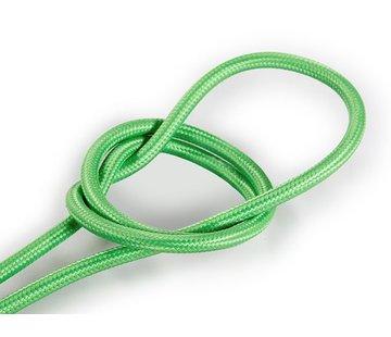 Kynda Light Textilkabel Hellgrün - rund, einfarbiger Stoff