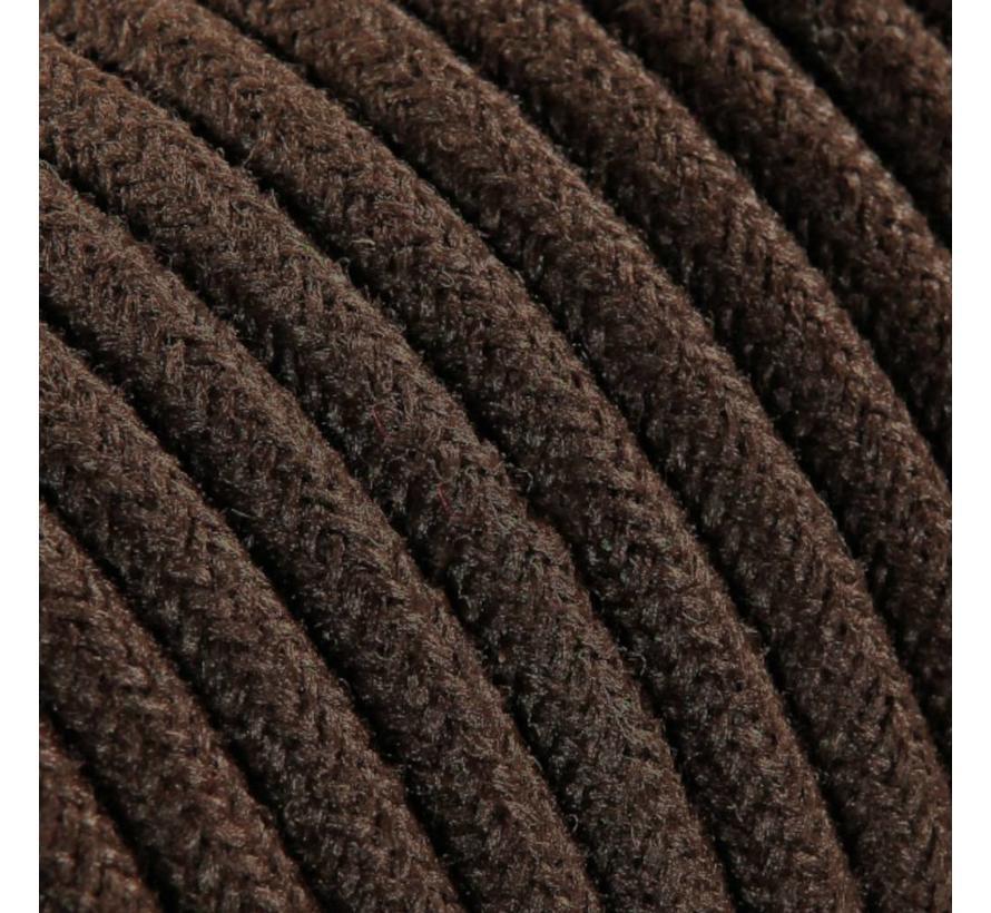 Strijkijzersnoer Bruin - rond, linnen