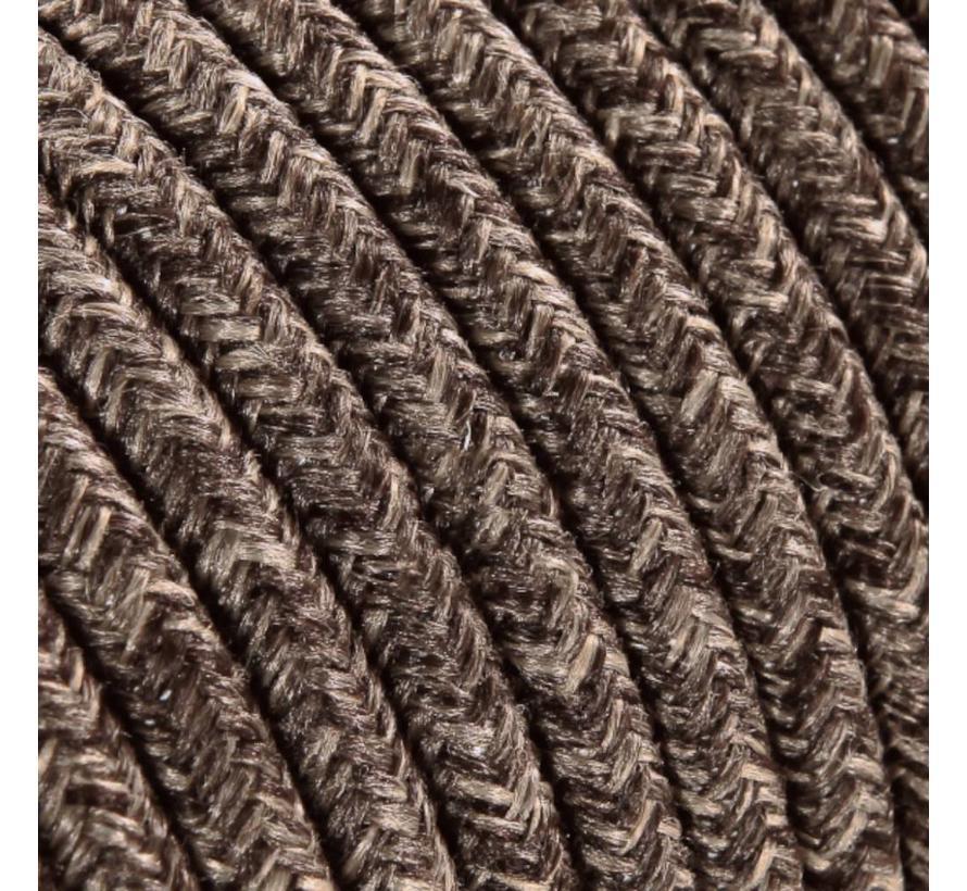 Textilkabel Braun Mix - rund, leinen