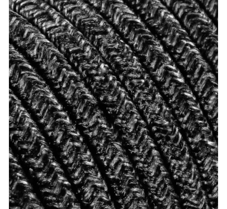 Textilkabel Dunkelgrau Mix - rund, leinen