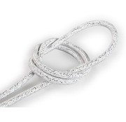 Kynda Light Fabric Cord White (glitter) - round, solid