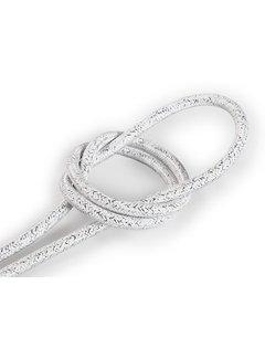 Kynda Light Fabric Cord White (glitter) - round, solid