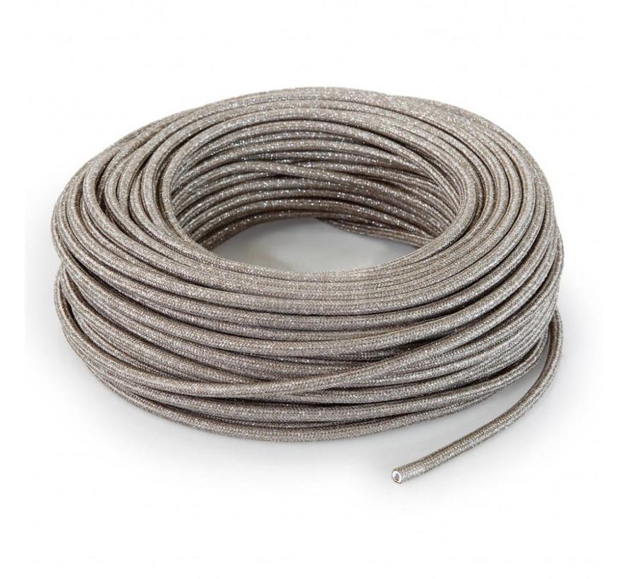Funkeln Textilkabel Sand (Glitzer Effekt) - rund, einfarbiger Stoff