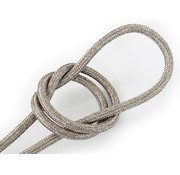 Kynda Light Fabric Cord Sand (glitter) - round, solid
