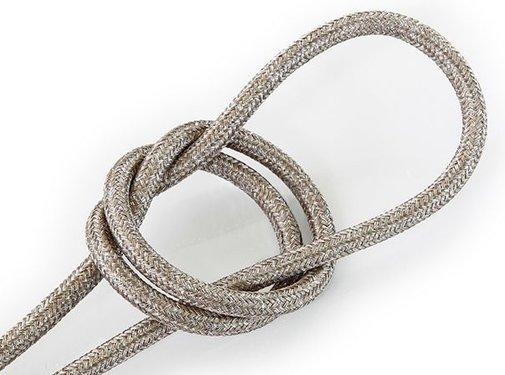 Kynda Light Fabric Cord Sand (glitter) - round, solid