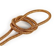 Kynda Light Fabric Cord Copper (glitter) - round, solid