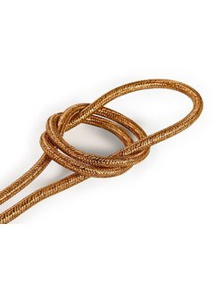 Kynda Light Fabric Cord Copper (glitter) - round, solid