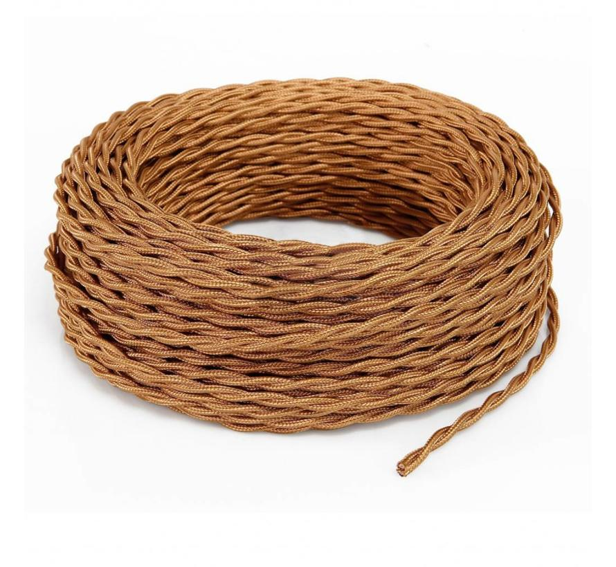 Fabric Cord Copper - twisted, solid