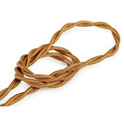 Kynda Light Fabric Cord Whiskey - twisted, solid