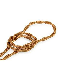 Kynda Light Fabric Cord Copper - twisted, solid