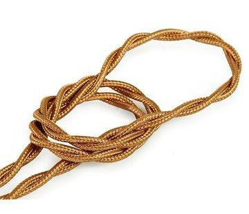 Kynda Light Textilkabel Kupfer - verdrillt/geflochten, einfarbiger Stoff