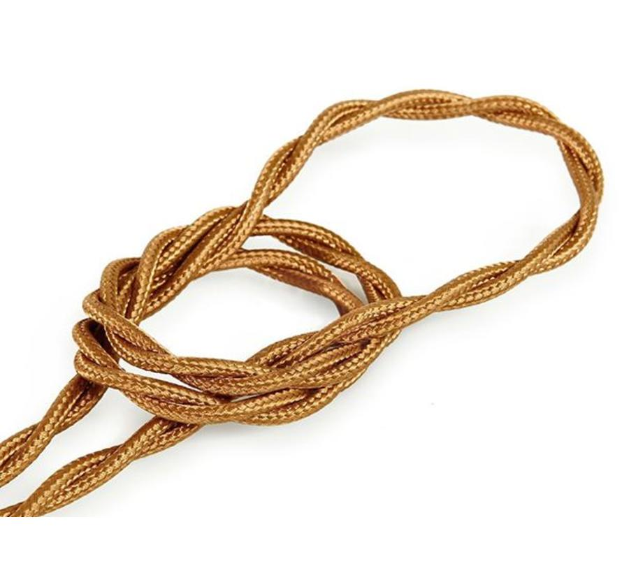 Textilkabel Kupfer - verdrillt/geflochten, einfarbiger Stoff