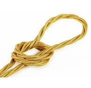Kynda Light Textilkabel Gold - verdrillt/geflochten, einfarbiger Stoff