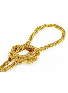 Kynda Light Fabric Cord Gold - twisted, solid