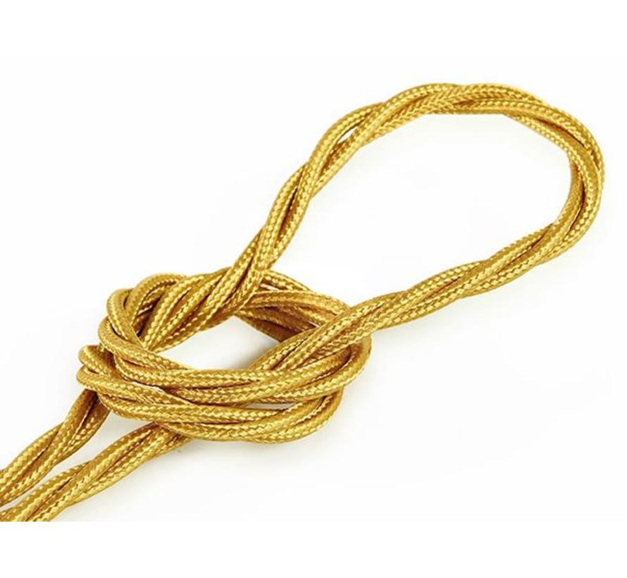 Textilkabel Gold - verdrillt/geflochten, einfarbiger Stoff