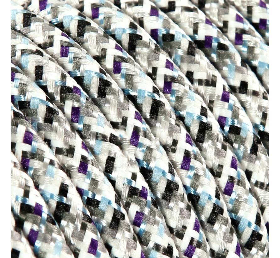 Strijkijzersnoer Wit - rond - pixel patroon