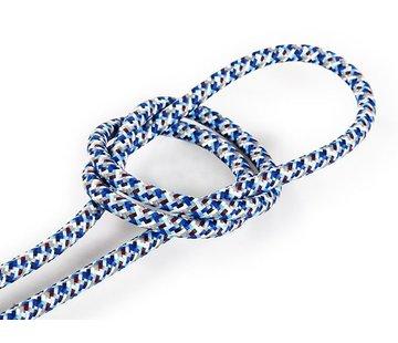 Kynda Light Fabric Cord Blue - round - pixelated pattern
