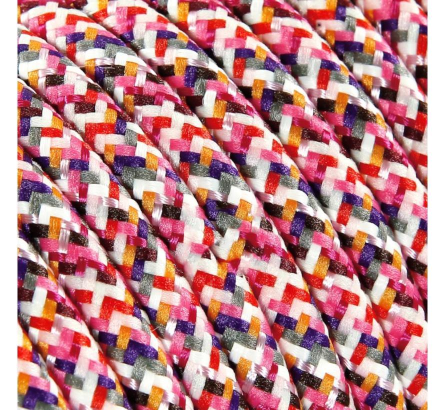 Strijkijzersnoer Roze - rond - pixel patroon