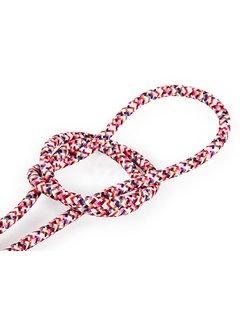 Kynda Light Fabric Cord Pink - round - pixelated pattern
