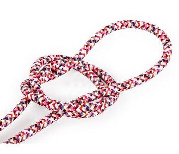 Kynda Light Textilkabel Rosa - rund | Pixel Muster