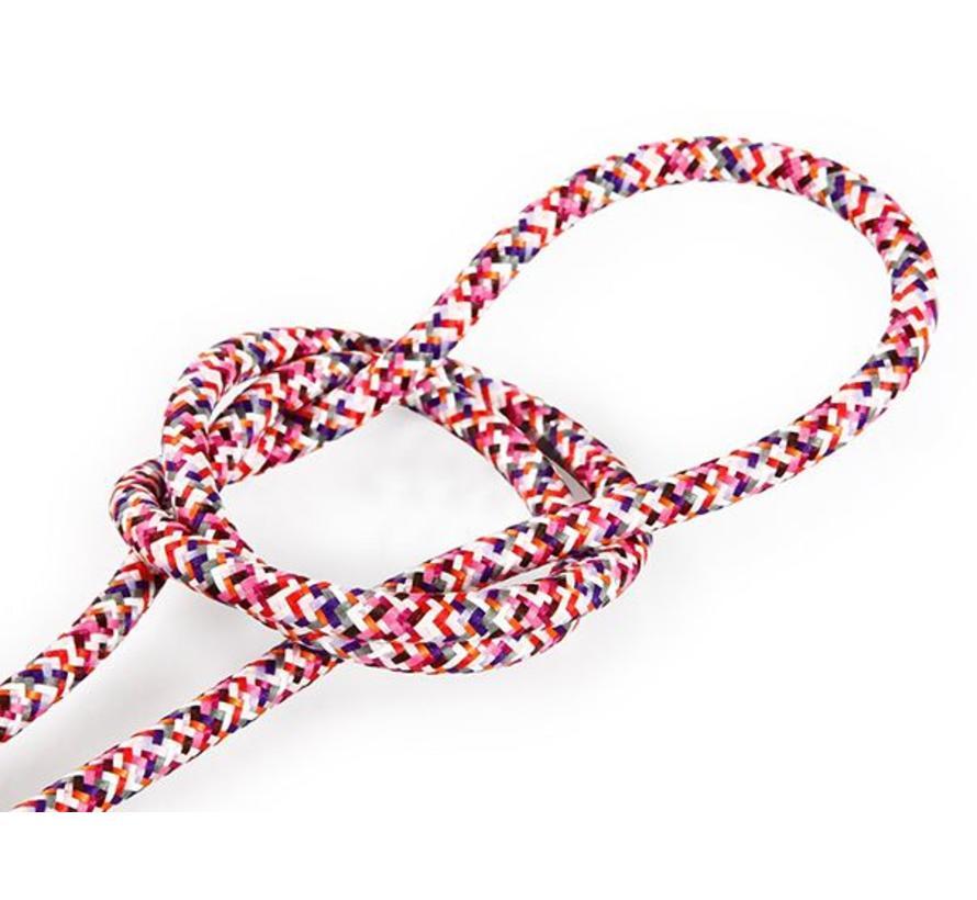 Fabric Cord Pink - round - pixelated pattern