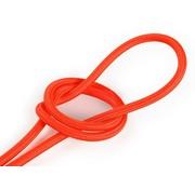 Kynda Light Textilkabel Fluo Orange - rund, einfarbiger Stoff