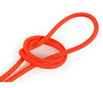Kynda Light Fabric Cord Neon Orange - round, solid