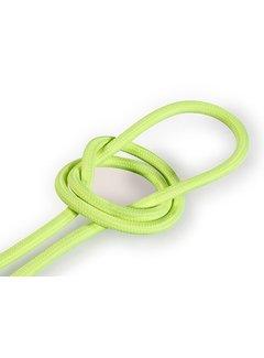 Kynda Light Textilkabel Fluo Gelb - rund, einfarbiger Stoff