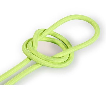 Kynda Light Fabric Cord Neon Yellow - round, solid