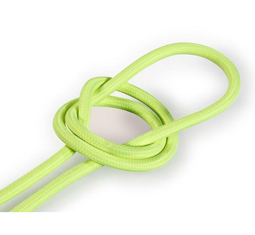 Textilkabel Fluo Gelb - rund, einfarbiger Stoff