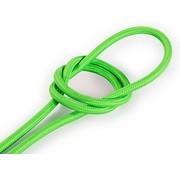 Kynda Light Textilkabel Fluo Grün - rund, einfarbiger Stoff