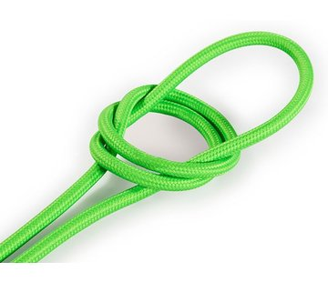 Kynda Light Fabric Cord Neon Green - round, solid