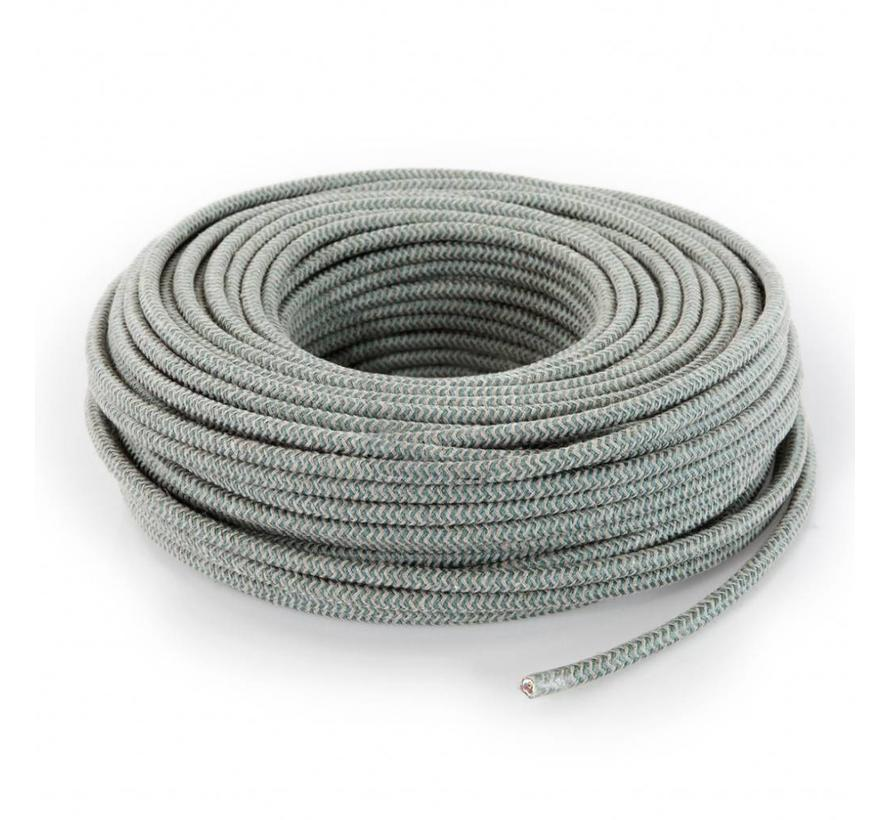 Fabric Cord Sand & Sage - round linen - zigzag pattern