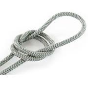 Kynda Light Fabric Cord Sand & Sage - round linen - zigzag pattern