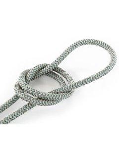 Kynda Light Strijkijzersnoer Zand & Salie - rond linnen - zigzag patroon