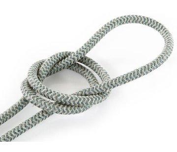 Kynda Light Textilkabel Sand & Salbei - rund, leinen | Zick-Zack Muster