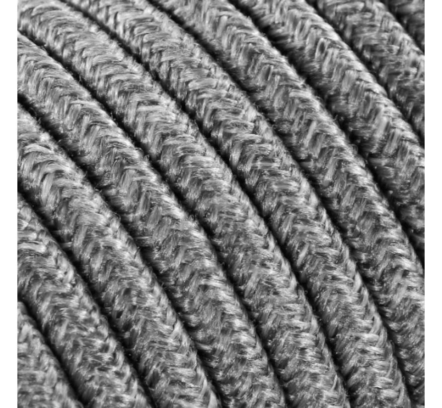 Textilkabel Grau Mix - rund, leinen