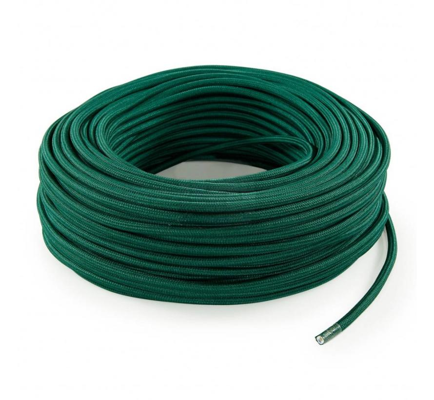 Fabric Cord Dark Green - round, solid