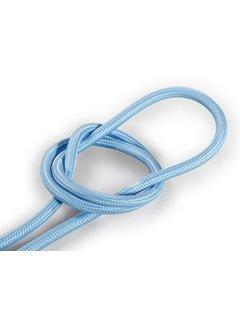 Kynda Light Textilkabel Hellblau - rund, einfarbiger Stoff
