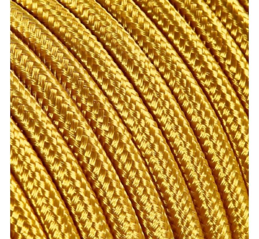 Strijkijzersnoer Goud - rond, effen stof