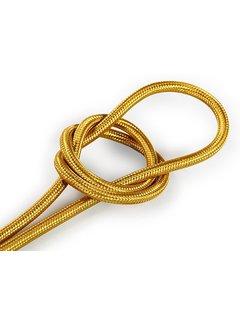 Kynda Light Fabric Cord Gold - round, solid