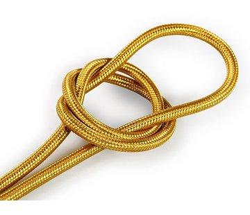 Kynda Light Textilkabel Gold - rund, einfarbiger Stoff