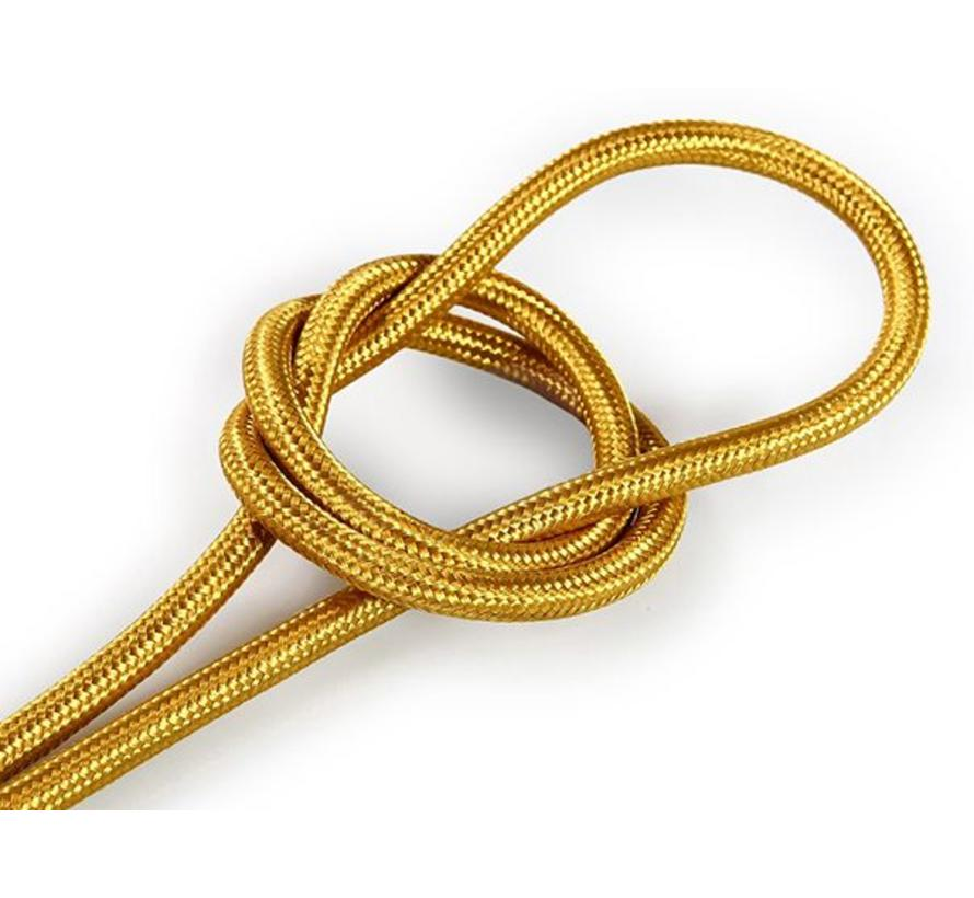 Textilkabel Gold - rund, einfarbiger Stoff