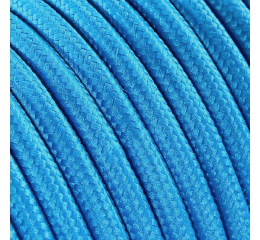 Textilkabel Türkis - rund, einfarbiger Stoff