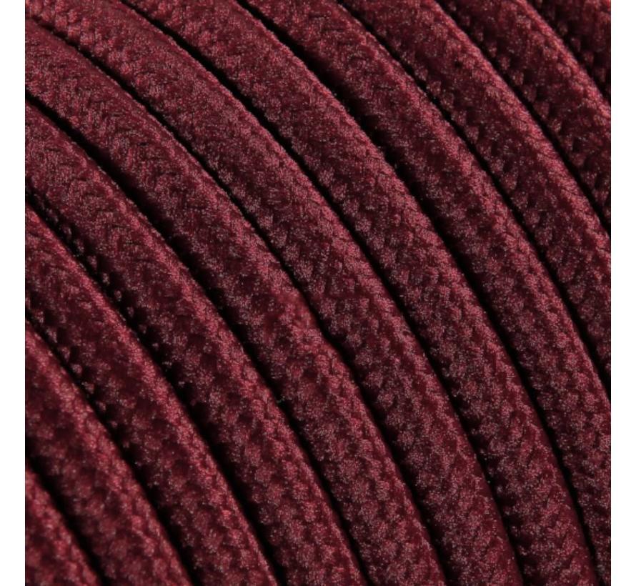 Textilkabel Burgund - rund, einfarbiger Stoff