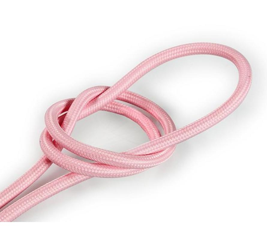 Fabric Cord Pale Pink - round, solid