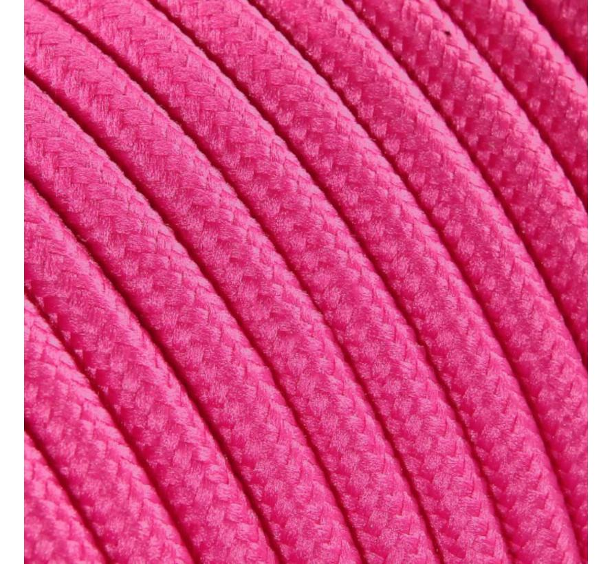 Fabric Cord Pink - round, solid