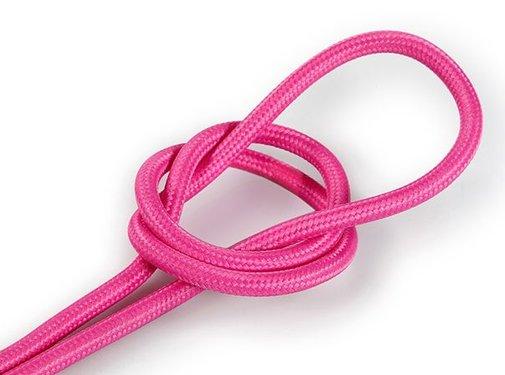 Kynda Light Strijkijzersnoer Roze - rond, effen stof