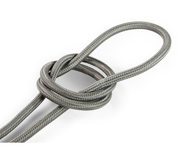 Kynda Light Fabric Cord Grey - round, solid